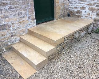 new access steps in ham hill stone .
