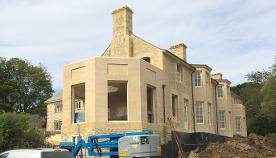 dressing in & alignment of cut ashlar detail in situation of complete build.