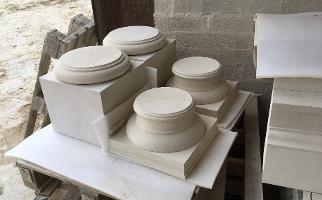 Column bases & capitols in Bath stone